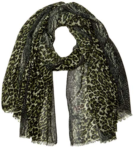 ONLY Damen ONLANIMAL SCARF Winter-Schal, Rifle Green, One Size