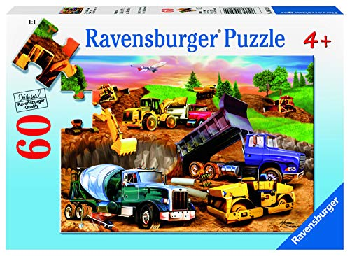 Ravensburger Construction Crowd - 60 Piece Jigsaw Puzzle for Kids – Every Piece is Unique, Pieces Fit Together Perfectly