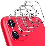 ivoler [4 pièces Protector de Lente de cámara para iPhone 11, Protector Cámara Trasera Lente Protector Case[Anti-Rasguños] [Anti-Polvo]