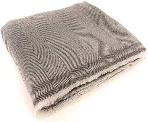 """Extra Soft Cashmere Wool Throw Blanket - Made in Nepal Size 54"""" x 108"""""""