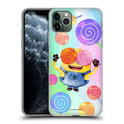 Head Case Designs Licenciado Oficialmente Despicable Me Bob Lollipop Minions Acuarela Carcasa de Gel de Silicona Compatible con Apple iPhone 11 Pro MAX