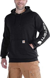 Carhartt Workwear K288 - Felpa da uomo con cappuccio, a maniche lunghe, con logo
