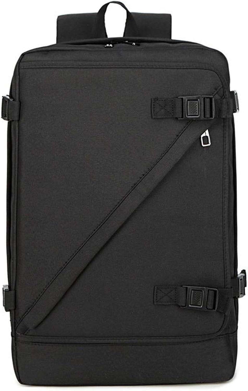 Herrenrucksack Computertasche Business Simple Student Bag, 43 × 29 × 13cm, Schwarz
