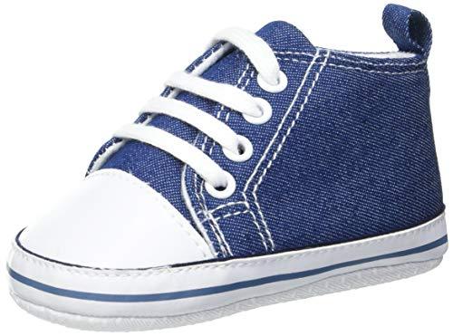 Playshoes Baby Canvas-Turnschuhe, Blau (jeansblau 3) 20
