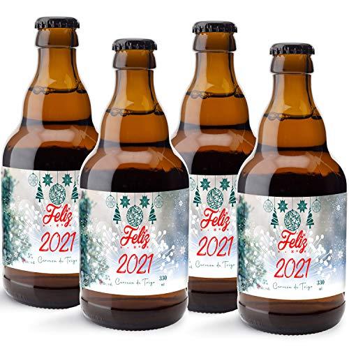 CEREX pack de 20 cervezas artesanales FELIZ 2021 cerveza especial trigo doble fermentacion cerveza alemana