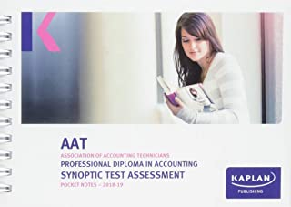 PROFESSIONAL DIPLOMA IN ACCOUNTING SYNOPTIC TEST ASSESSMENT - POCKET NOTES (Aat Pocket Notes)