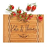 Personalized Cutting Board, House Warming Present for New Home,12 Designs & 3 Sizes - Wedding Gifts for Couple, Anniversary Gift, Kitchen Sign - Butcher Block Inlay Board #G
