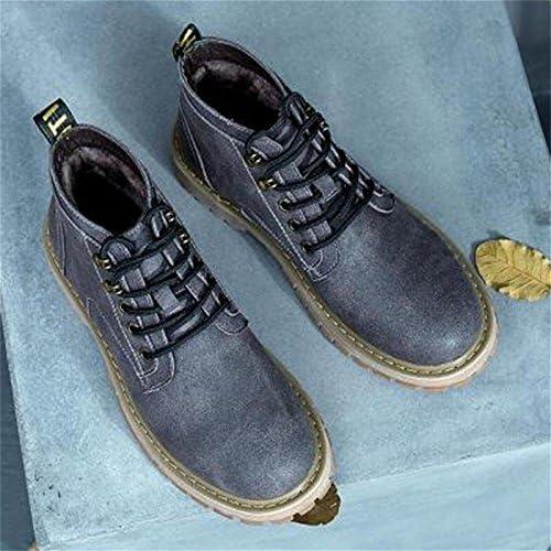 Hiver plus gras XL male simili cuir bottes chaussures ¨¤ glissi¨¨re , 46 , noir