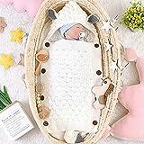 Ecisi Newborn Baby Wrap/Swaddle/Blanket, Premium Skin-Friendly Newborn Baby Stroller Wickelschlafsack, Baby Kids Kleinkind Soft Warm Schlafsack mit Reißverschluss, 0-1 Jahre, Weiß
