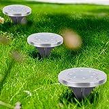 Luces de jardín resistentes a la oxidación automática con luz LED de 4 piezas para decorar el jardín