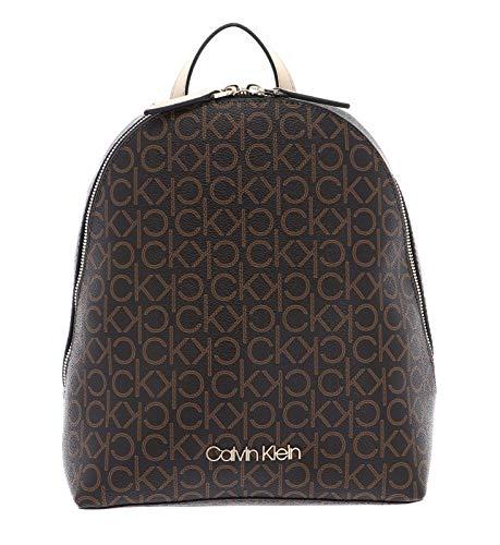 Calvin Klein CK Mono Small Backpack Brown Mix