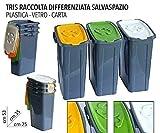 EURONOVITA' SRL ITALY 3 pattumiera pattumiere Tris bidoni per la Raccolta differenziata Se...