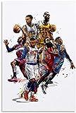 Puzzle 300 Piezas Rompecabezas para Adultos Niños Jordan Harden Curry James Baloncesto 15.7x11inch(40x28cm) Sin Marco