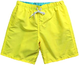 Howely Men's Swimsuits Quick Drying Baggy Plus-Size Solid Mid Length Short