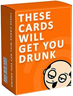 Party game The Stress Relief Game These Cards Will Get You Drunk - Fun Adult Drinking Card Game for Parties (Orange)