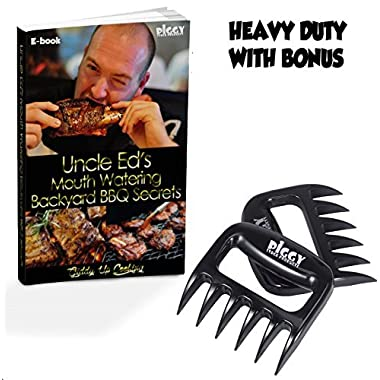 Black Meat Claws Set - Bear Claws Shredder - Holding Claws - Shredded Claws - Bear Paws - Cold-meat Forks - Barbecue Claws with Ebook - Digital