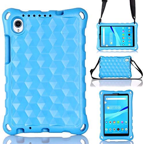 GHC Pad Fundas & Covers para Lenovo Tab M8 TB-8505/8705, Mango de la Funda Protectora de la Bolsa de la Bolsa de la Correa para el Hombro para Lenovo Tab M8 8' (Color : Blue)