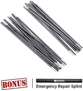 Weanas Aluminum Rod Tent Pole Replacement Accessories, Multifunction Tent Poles Rod 8.5 mm 9.5mm
