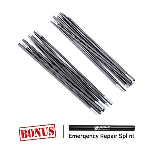 Weanas Aluminum Rod Tent Pole Replacement 11'3' Polesx2