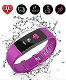 TaoRan Rastreador de Ejercicios, Reloj Inteligente a Prueba de Agua Ip67 con Monitor de Ritmo cardíaco, podómetro, Monitor de sueño, Reloj de Ejercicios para Mujeres-(Púrpura)