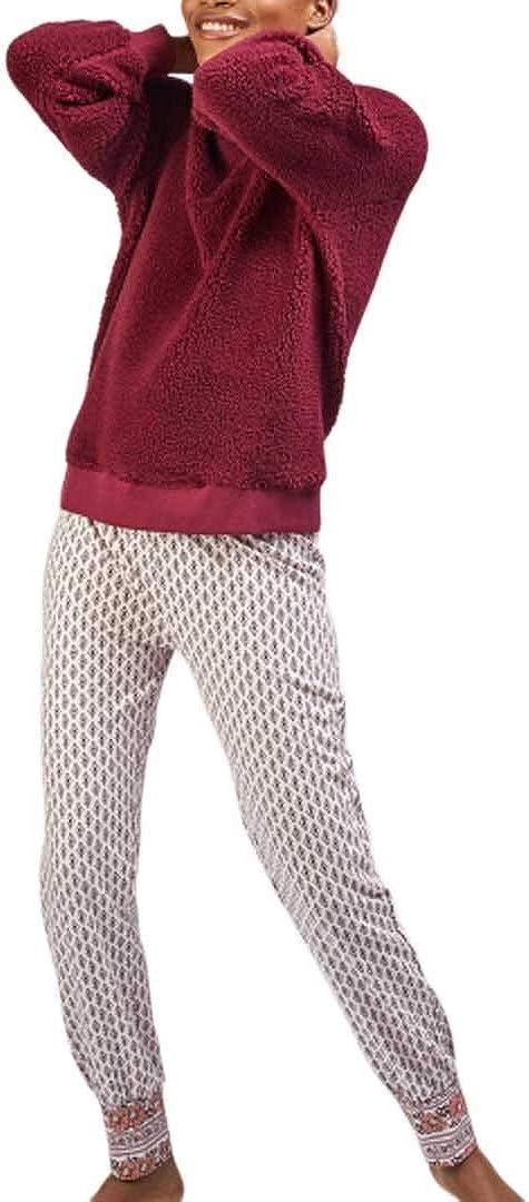 GISELA - Pijama Chica Mujer Color: Berenjena Talla: S ...