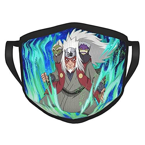 Naru-to - Mascarillas de anime para niño y niña, máscara reutilizable a prueba de viento, pasamontañas para polvo y boca