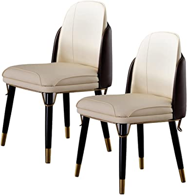 Kitchen Dining Chairs Set of 2, Modern Makeup Chair Accent Chair with Leather Finish/Living Room Chairs Sillas De Comedor for Kitchen,Bedroom
