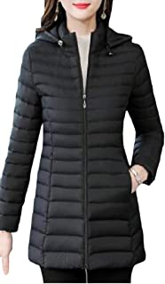 Macondoo Women Warm Puffer Quilted Outwear Hoodie Cotton-Padded Down Jacket