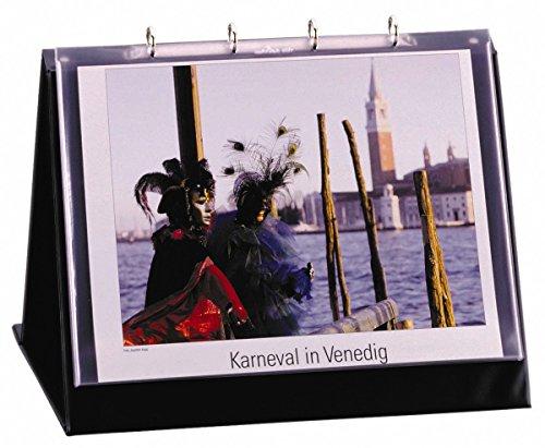 Durable 857201 Tischflipchart (mit 10 Hüllen aus Folie, A3 quer, 450 x 330 x 365 mm) schwarz