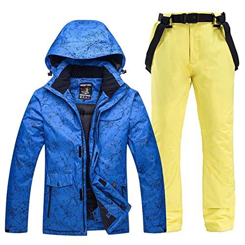 Traje de esquiar -30 hombres y mujeres nieve desgaste del juego snowboard que comience el invierno al aire libre Ropa de deporte impermeables pantalones del traje de esquí chaquetas + correa Ropa de n