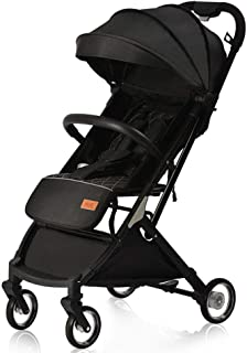Compact Lightweight Stroller,Pushchair Buggy,Buggy with Lying Position, with One Hand Fold, 5-Point seat belt, with Reclining Backrest, Suitable from Birth to 3 Years old(0-25kg)