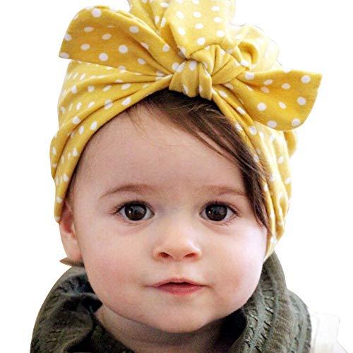 ESHOO Neugeborenes Baby Mädchen Hut Weich Nettes Turban Stirnband Mützen Cap 0-2 Jahre