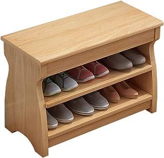 ZXJshyp Solid Wood Shoe Bench Shoe Storage Bench Multifunctional Porch Shoe Rack Simple Shoe Shelf Shoe Cabinet Change The...
