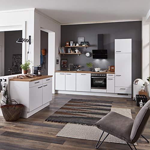 Küchenzeile Einbauküche nobilia elements STUDENT | Eiche Provence | 4,20 m | vormontiert | inkl. E-Geräte