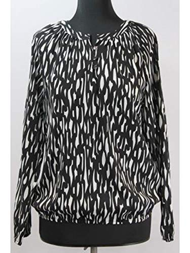 ERFO Tunika-Bluse schwarz-Weiss Größe 44