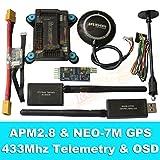 General APM2.8 Flight Controller + NEO-7M GPS, 3DR 433Mhz Telemetry, OSD, Power Module