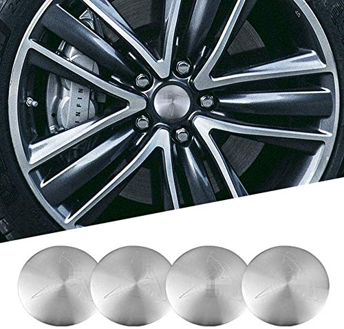 4 Pcs Car Wheel Centre Caps for Tesla Model 3 X S Y 2018 2019 2020 2021,Rim Protectors,Hub Center Cover Rust Protection Decoration Stickers,Tyre Hub Centre Cover with Emblem