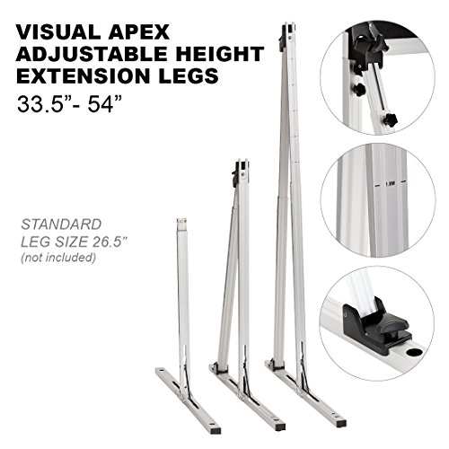 Visual Apex Projector Screens Adjustable Height 33.5' to 54' Extension Stand Legs - One Pair fits All Visual Apex Screen Sizes 100HD - 144HD