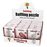 Assorted Metal Puzzle Large 24 Pack IQ Wire Metal Puzzles with Paper Box Gift Package Great Educational Metal Puzzle Games Toys for Kids and Adults by AHYUAN