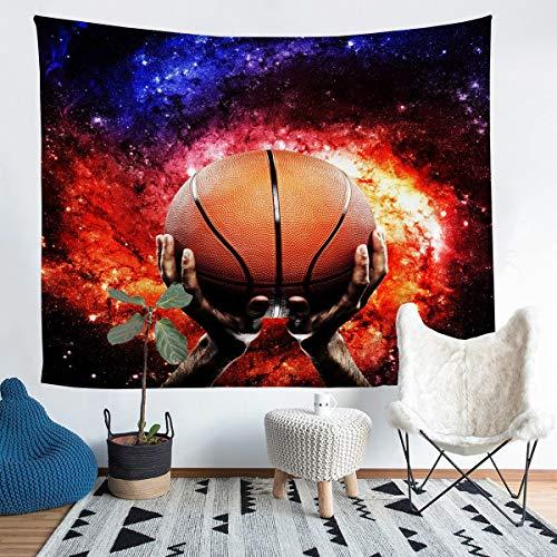 Loussiesd Manta de pared para colgar en la pared, diseño de balón de baloncesto para niños y adultos con patrón de bola 3D, manta ultra suave para decoración de habitación grande 58 x 79