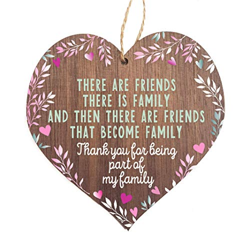 Friends plaque   Friends that are family wooden heart   gifts for friends women   best friend plaque   hug gifts motivational miss you gift   birthday Christmas