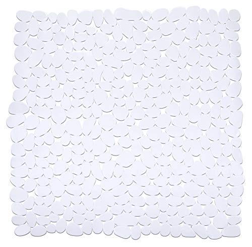 Wenko 20277100 Paradise Tapis Douche Blanc 54 x 54 cm
