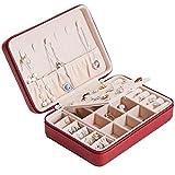 RFWPA Caja de joyería, ataúd portátil, Cadena de Pernos, Anillo para Orejas, Organizador, Caja de Almacenamiento de Maquillaje, contenedor de Belleza, Collar, Regalo de cumpleaños