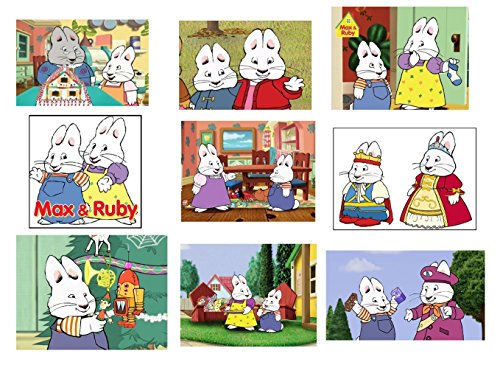 Unbranded 9 Max and Ruby Stickers, Decals, Labels