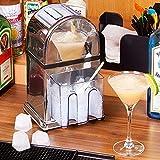 Edelstahl Handkurbel Eiscrusher Maschine mit Edelstahl Blatt, Tragbare Home Handkurbel Schneekonus Maschine, Multifunktion Rasierte Eismaschine für Sommerkalte Getränke,B