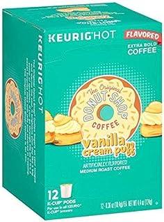 Donut Shop Vanilla Cream Puff Coffee - 12 Keurig K-Cups (Pack of 2)