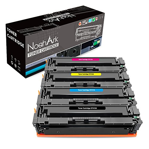 NoahArk compatibele CF410A CF411A CF412A CF413A tonercartridges vervanging voor HP Color Laserjet Pro M452dn M452dw M452nw,HP Color Laserjet Pro MFP M377dw M477fdn M477fdw M477fnw, 4-Pack (BK/C/Y/M)