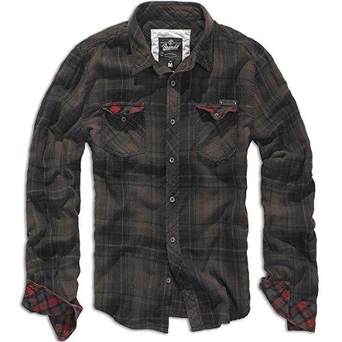 Brandit Checkshirt Duncan brown-black Gr. L Art. 4016-67-L