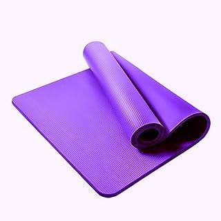 Asdfnfa Yoga Mat NBR Sports Mat Pilates, Sports and Fitness Mat - Comfortable, Non-Slip (Color : Purple, Size : 10mm)