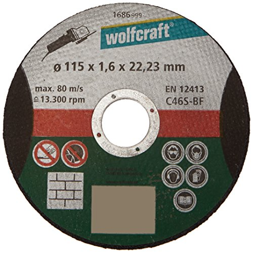 Wolfcraft 1686999 kettingzaag schijf Ø 115 x 1,6 mm fijne korrel